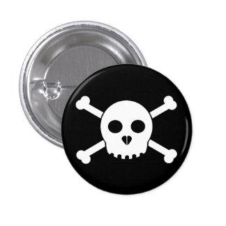 El botón principal de Deth blanco recto Pins