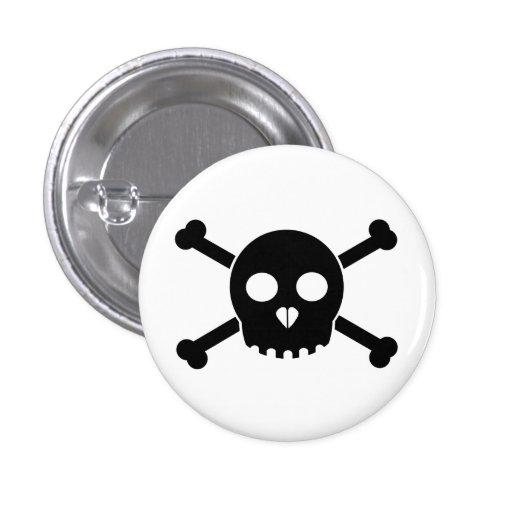 El botón principal de Deth negro recto Pins