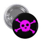 El botón principal de Deth rosado inclinado Pin