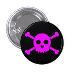 El botón principal de Deth rosado recto Pin
