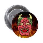 El botón principal del diablo japonés pin