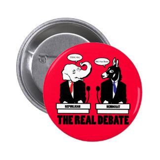 El botón real del discusión pin redondo de 2 pulgadas