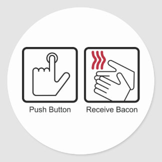 El botón, recibe el tocino - dispensador del pegatina redonda