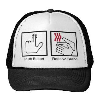 El botón, recibe el tocino - dispensador del tocin gorras
