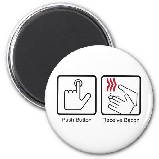 El botón, recibe el tocino - dispensador del tocin imanes
