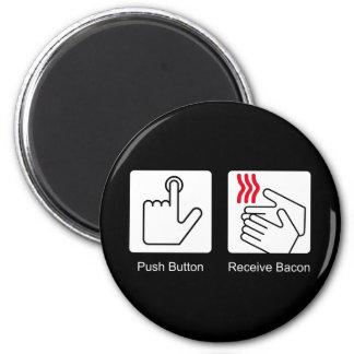 El botón, recibe el tocino - dispensador del tocin imán para frigorifico