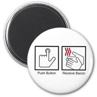 El botón, recibe el tocino - dispensador del tocin iman de nevera