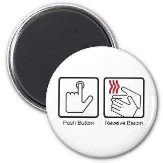 El botón, recibe el tocino - dispensador del tocin imán redondo 5 cm
