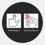 El botón, recibe el tocino - dispensador del tocin etiquetas