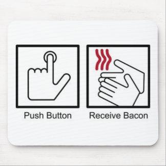 El botón, recibe el tocino - dispensador del tocin alfombrilla de raton