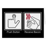 El botón, recibe el tocino - dispensador del tocin tarjetón