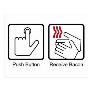 El botón recibe el tocino - dispensador del tocin postales