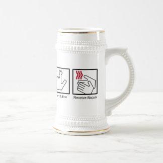 El botón, recibe el tocino - dispensador del tocin tazas de café