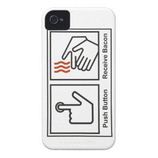 El botón, recibe el tocino Case-Mate iPhone 4 cárcasas