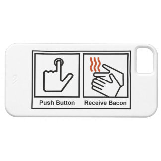 El botón, recibe el tocino iPhone 5 fundas
