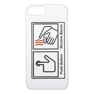 El botón, recibe el tocino funda iPhone 7