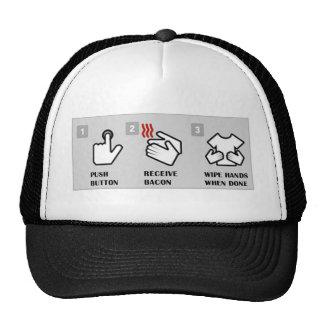 El botón, recibe el tocino gorros bordados