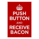 El botón recibe el tocino - guarde la parodia tran posters
