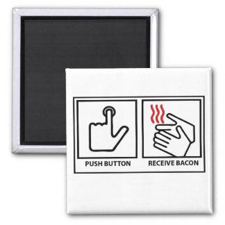 el botón recibe el tocino imán para frigorífico
