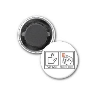 El botón, recibe el tocino imán redondo 3 cm