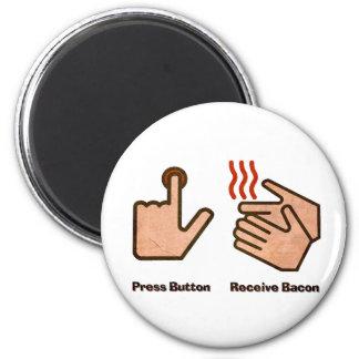 el botón recibe el tocino imán redondo 5 cm