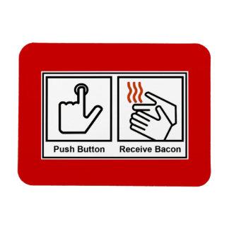 El botón, recibe el tocino imanes flexibles