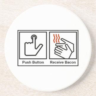 El botón, recibe el tocino posavasos diseño