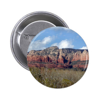 el botón redondo con la foto del rojo de Arizona Pin Redondo De 2 Pulgadas