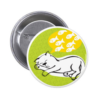 """el botón redondo """"gato soña """" pin redondo de 2 pulgadas"""