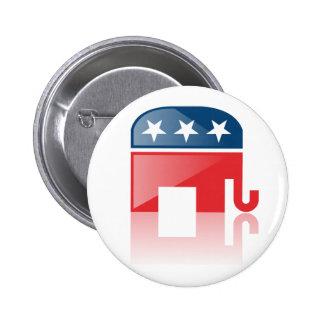 El botón republicano moderno pin redondo de 2 pulgadas