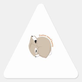 El botón sospechó el conejito calcomania trianguloada