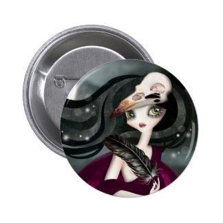 El botón trasero del Pin de la hora Witching
