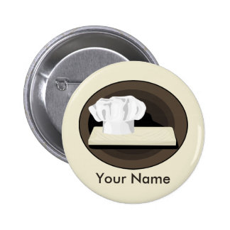 El botón trasero del Pin del cocinero