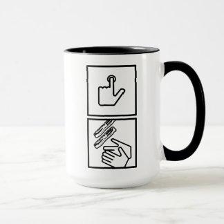 El botón y recibe el tocino - tocino real taza