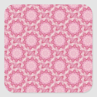 El bottlecap rosado florece al pegatina cuadrado