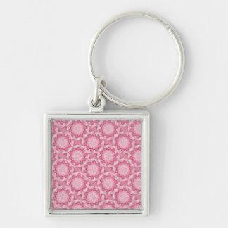 El bottlecap rosado florece el collar llaveros