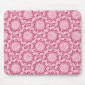 El bottlecap rosado florece el mousepad tapete de raton
