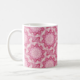 El bottlecap rosado florece la taza