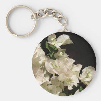 El Bougainvillea blanco florece llavero