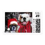 El boxeador del navidad persigue franqueo sellos postales
