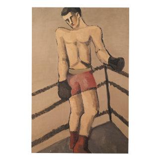 El boxeador grande cuadros de madera