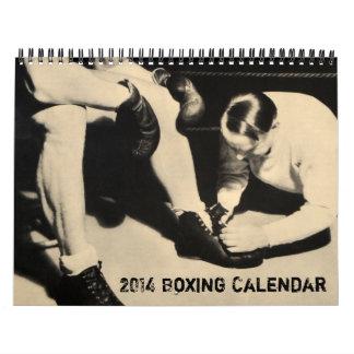 El boxeo 2014 del vintage se divierte el calendari calendario