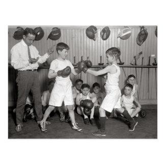 El boxeo Club, 1925 de los muchachos Postales