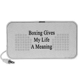 El boxeo da a mi vida un significado iPod altavoces
