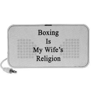 El boxeo es la religión de mi esposa PC altavoces
