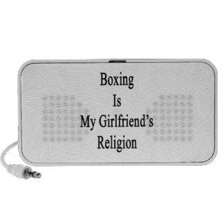 El boxeo es la religión de mi novia portátil altavoces