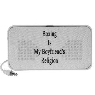 El boxeo es la religión de mi novio laptop altavoz
