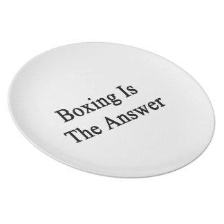 El boxeo es la respuesta platos de comidas