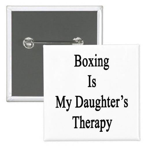 El boxeo es la terapia de mi hija pin