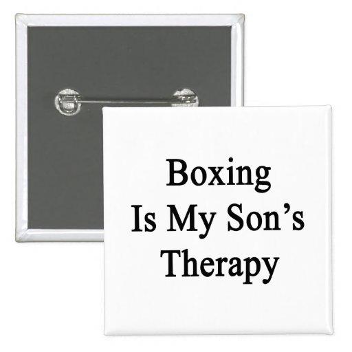 El boxeo es la terapia de mi hijo pin